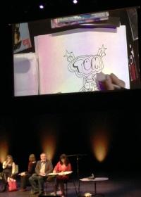 Liz Pichon live drawing