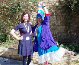With Winnie the Witch at Oxford Literary Festival