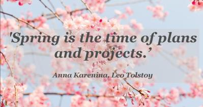 Spring time quote