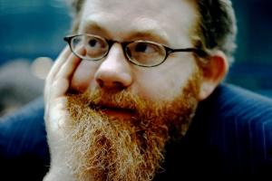 A magnificent beard - AF Harrold by Naomi Woddis