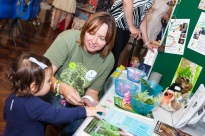 Suzanne from Nature Nuture Sussex with a young creative!